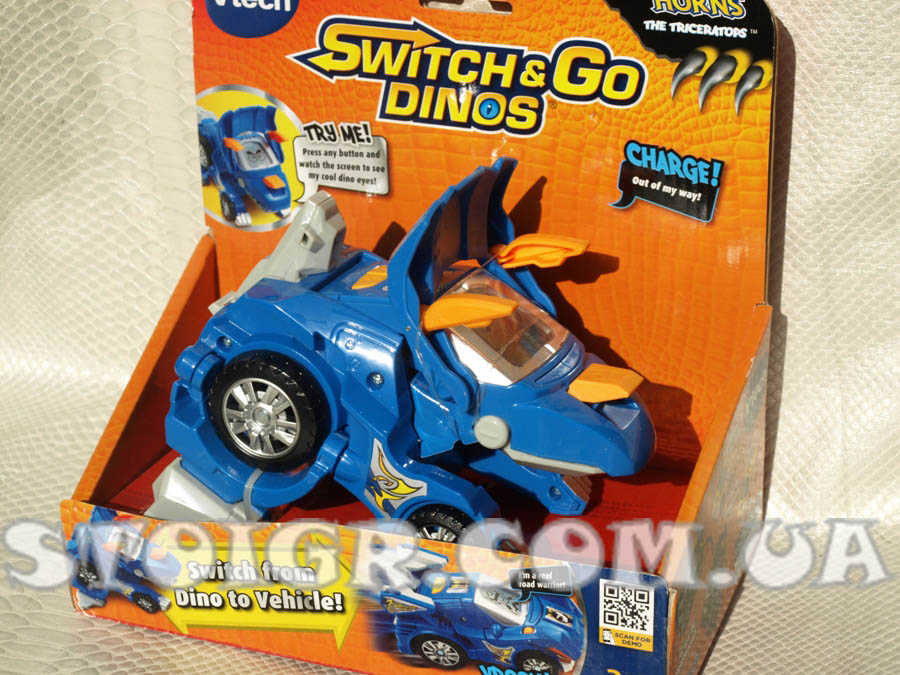 Диноробот Трицератопс Рога VTech Switch & Go Dinos Horns the Triceratops Dinosaur